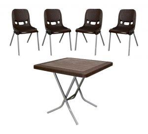 میز و صندلی پلاستیکی 4نفره